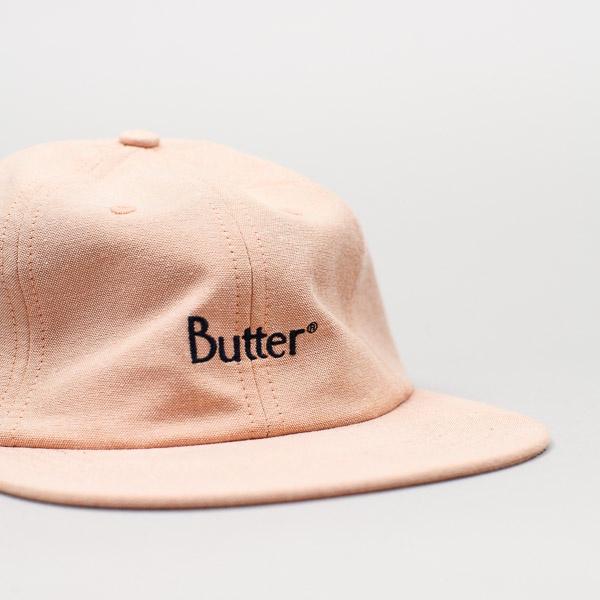 Butter Goods Classic Logo Oxford 6 Panel Peach