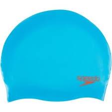 Junior Plain Moulded Silicone Cap Japan Blue/Lava Red