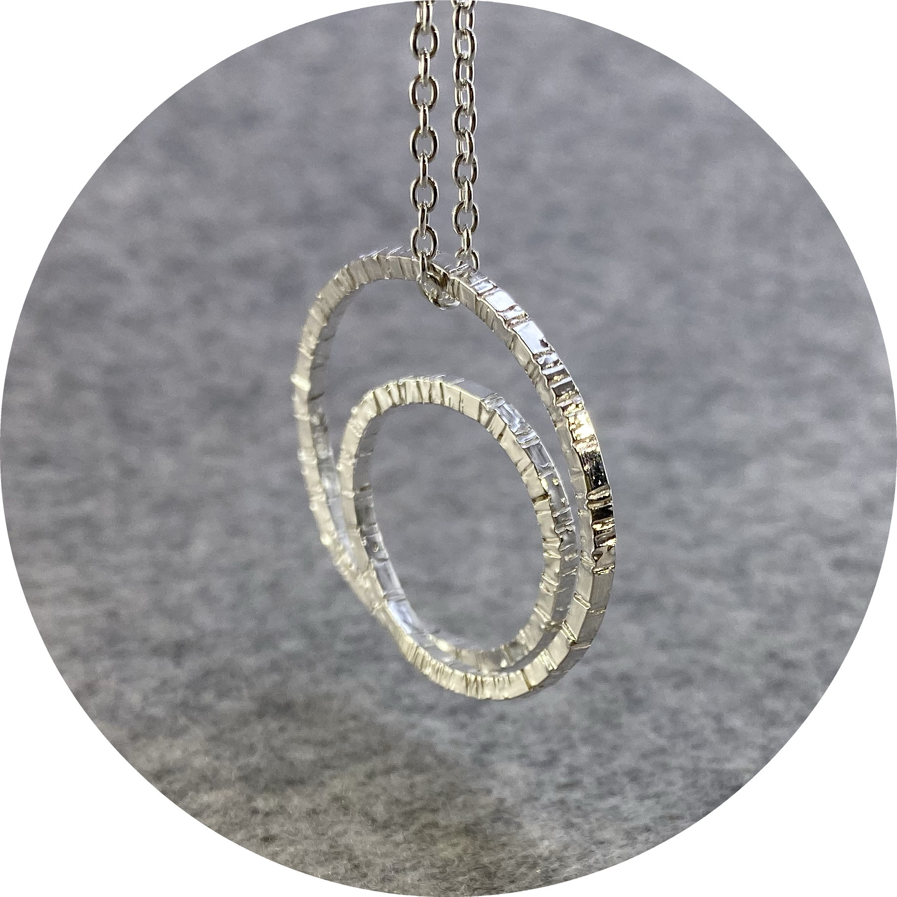 Emily Becher - 'Tactility Spiral Necklace', 925 silver