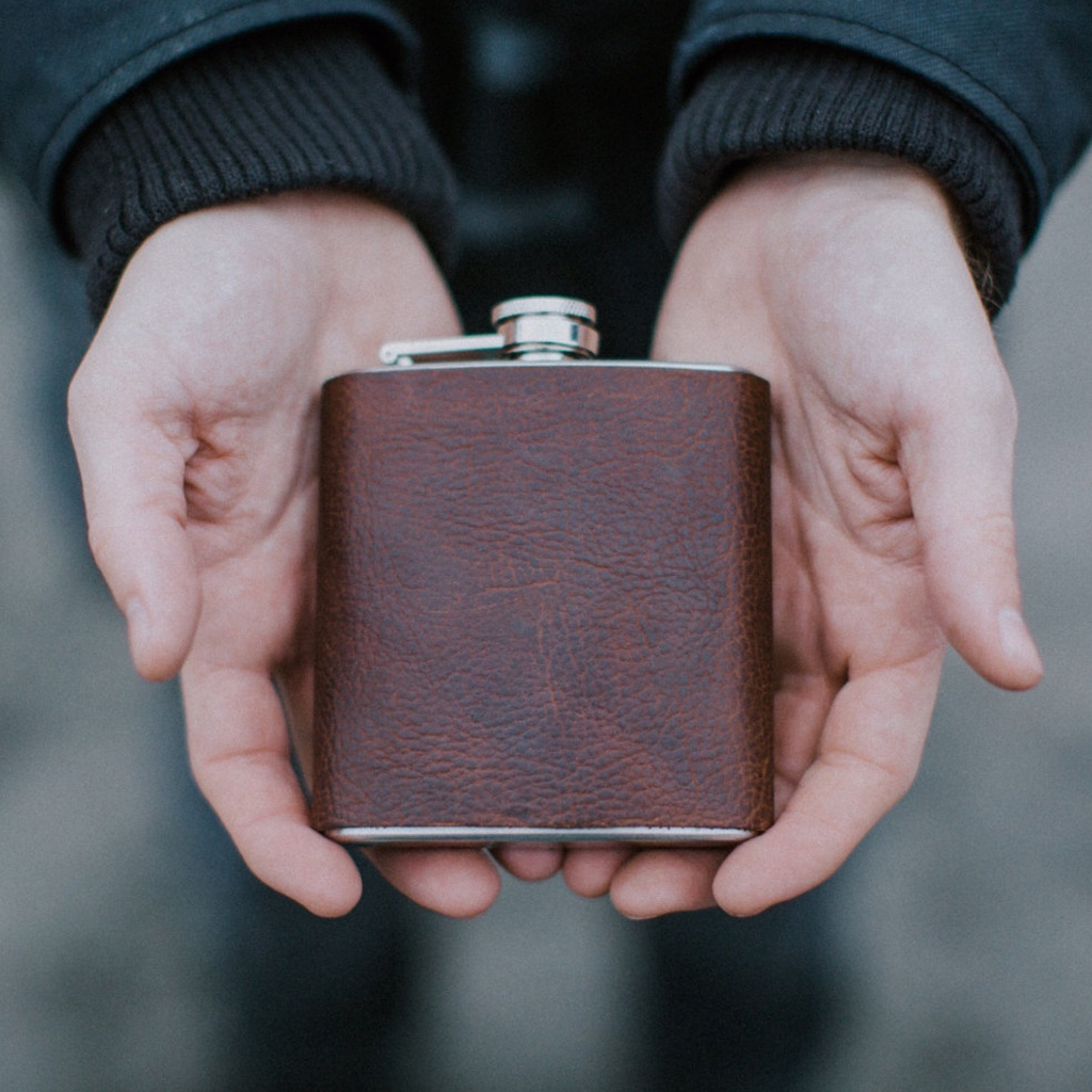 Leather Bound Flask