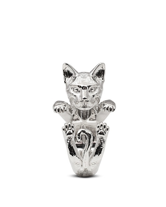 Siamese Cat Sterling Silver Hug Ring