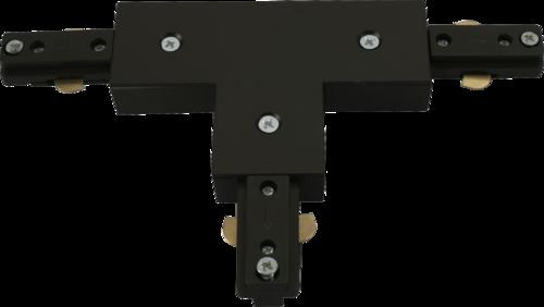 230v track T connector Black.