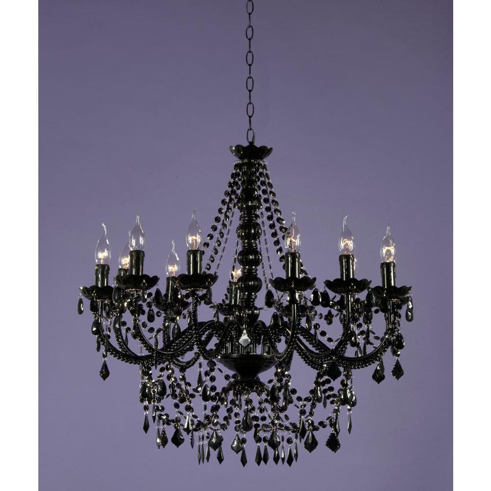 White acrylic bead chandelier 3 light oomaonline black acrylic chandelier 12 arm arubaitofo Gallery