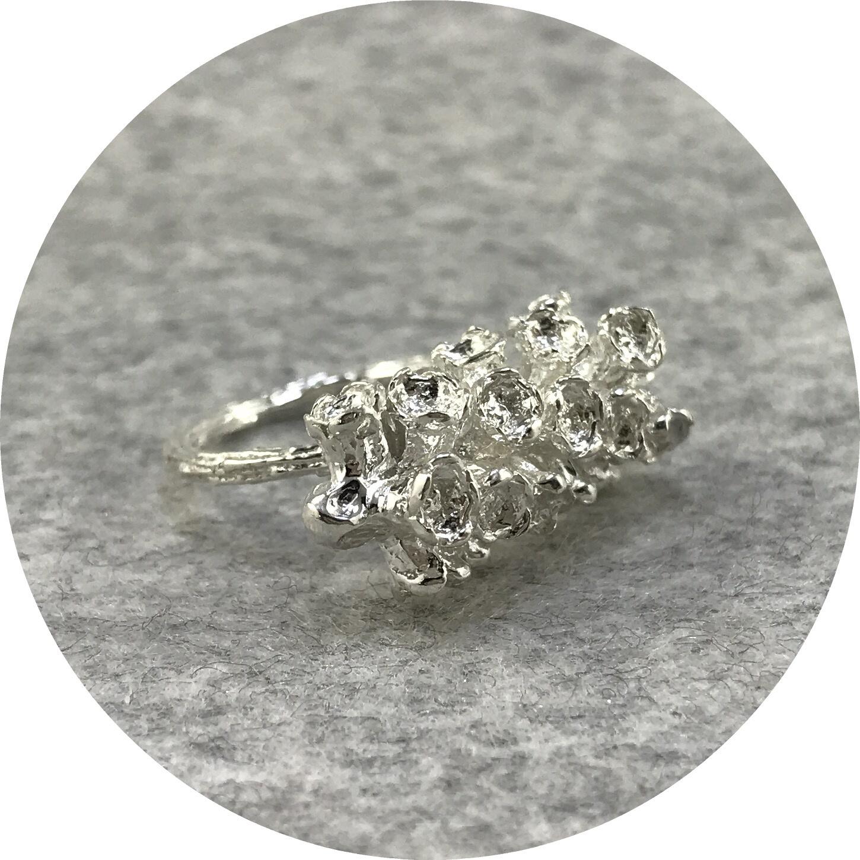 Abby Seymour- Melaleuca Statement Ring. Sterling silver. Size  K1/2