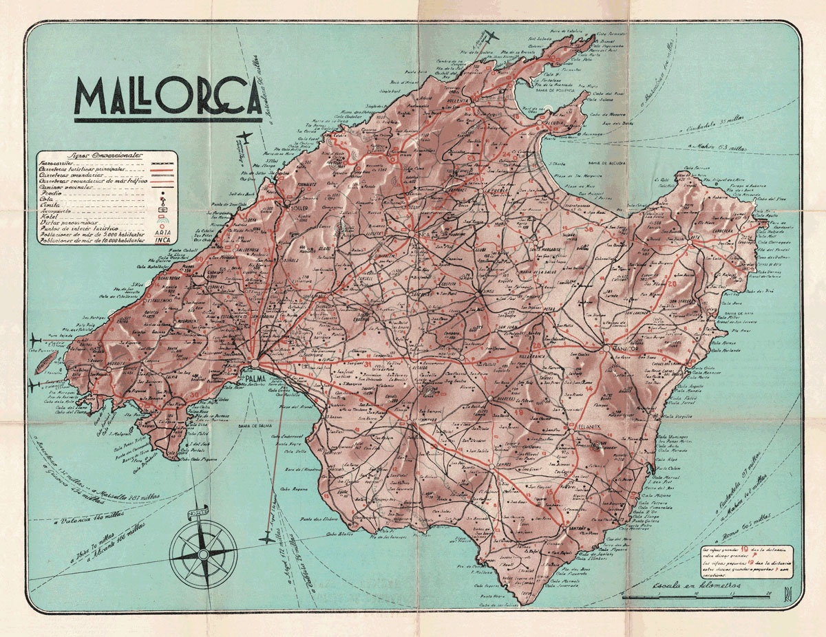 Mallorca Touristic Map | Print Only