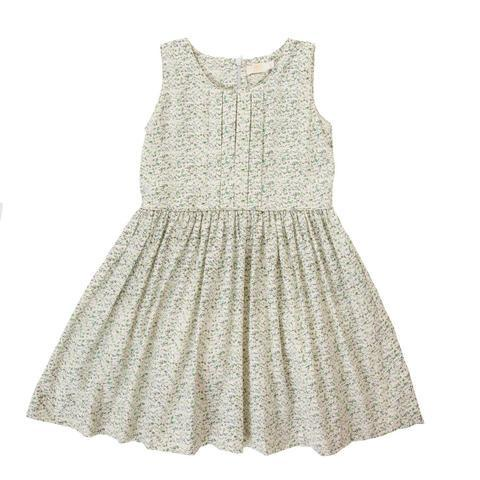 Peggy Ella Dress - green floral