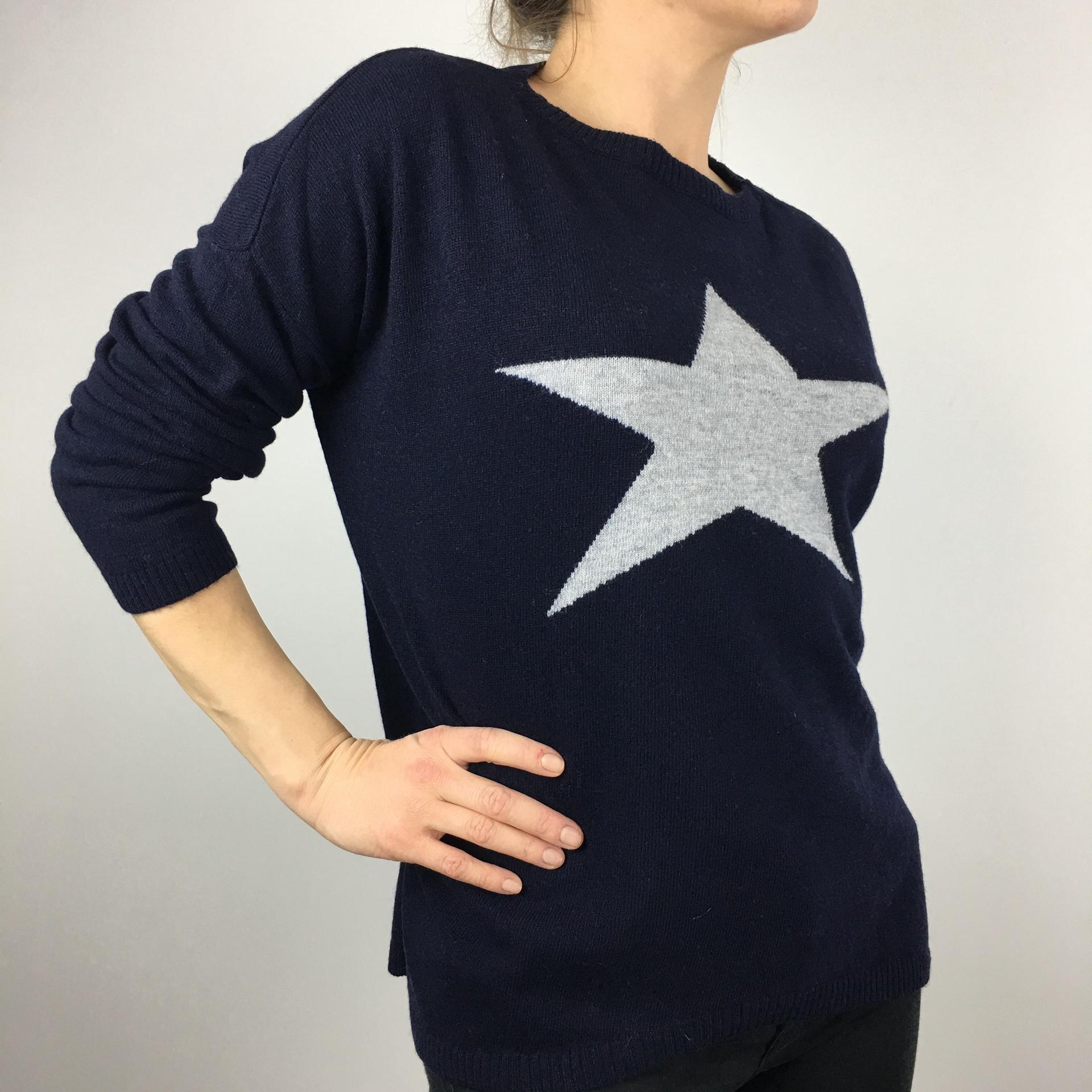 Luella Cashmere Star Jumper Navy
