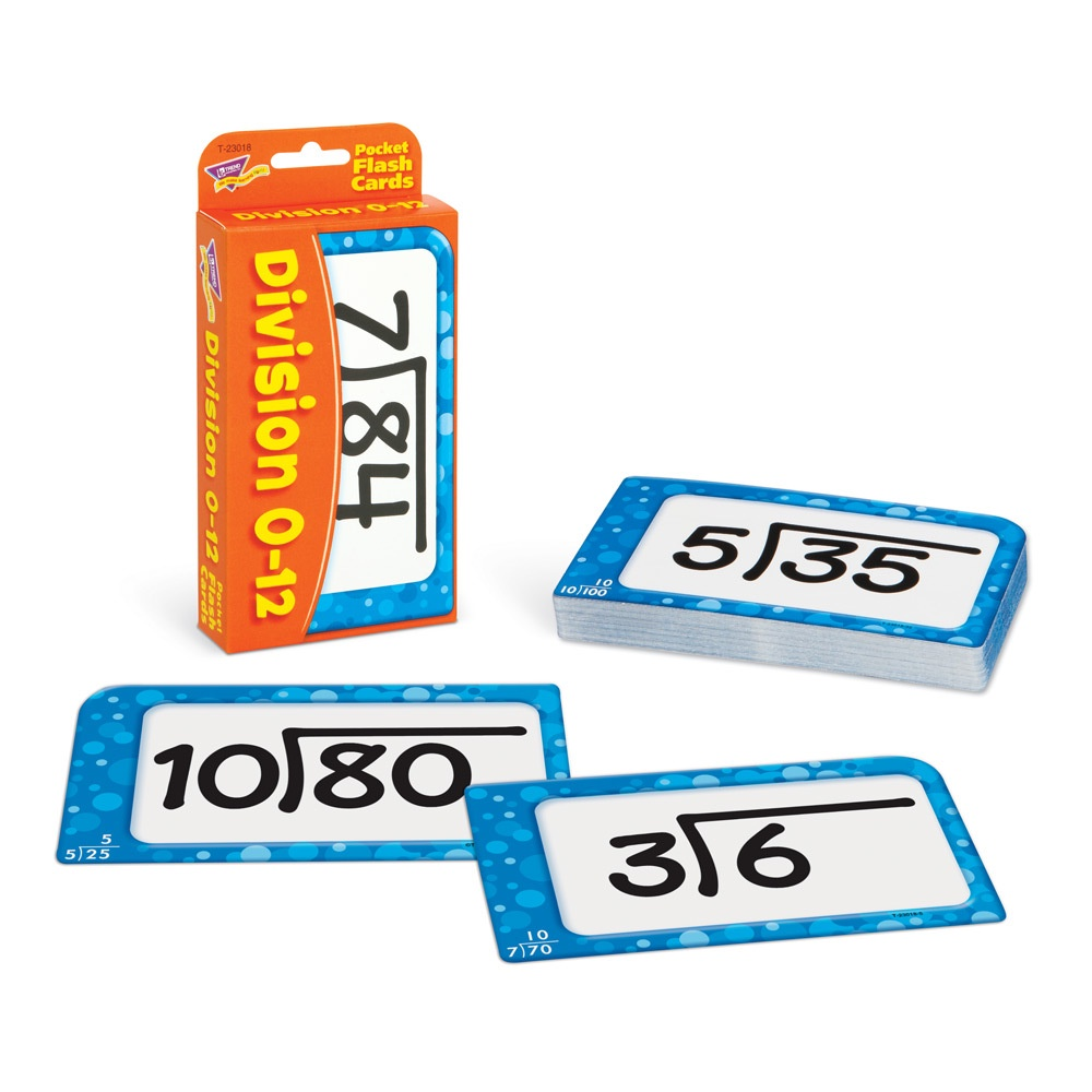 T 23018 DIVISION 0-12 POCKET FLASH CARDS