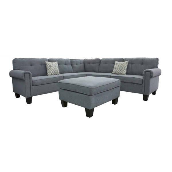Tremendous Blaze Corner Sofa With Ottoman Grey Dailytribune Chair Design For Home Dailytribuneorg
