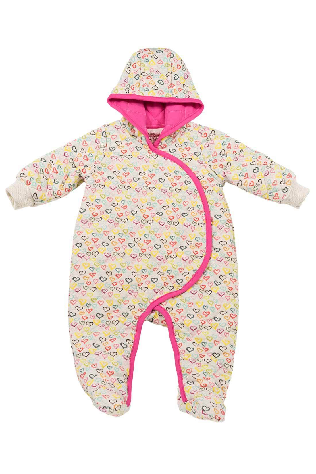 Little Wings Quilted Hearts Romper
