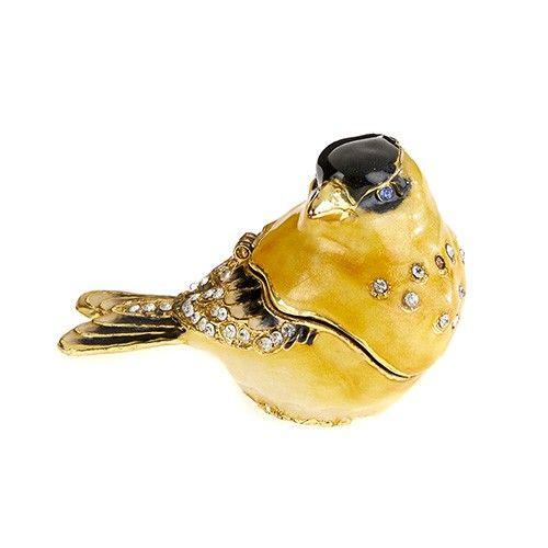 Goldfinch Enamel Box
