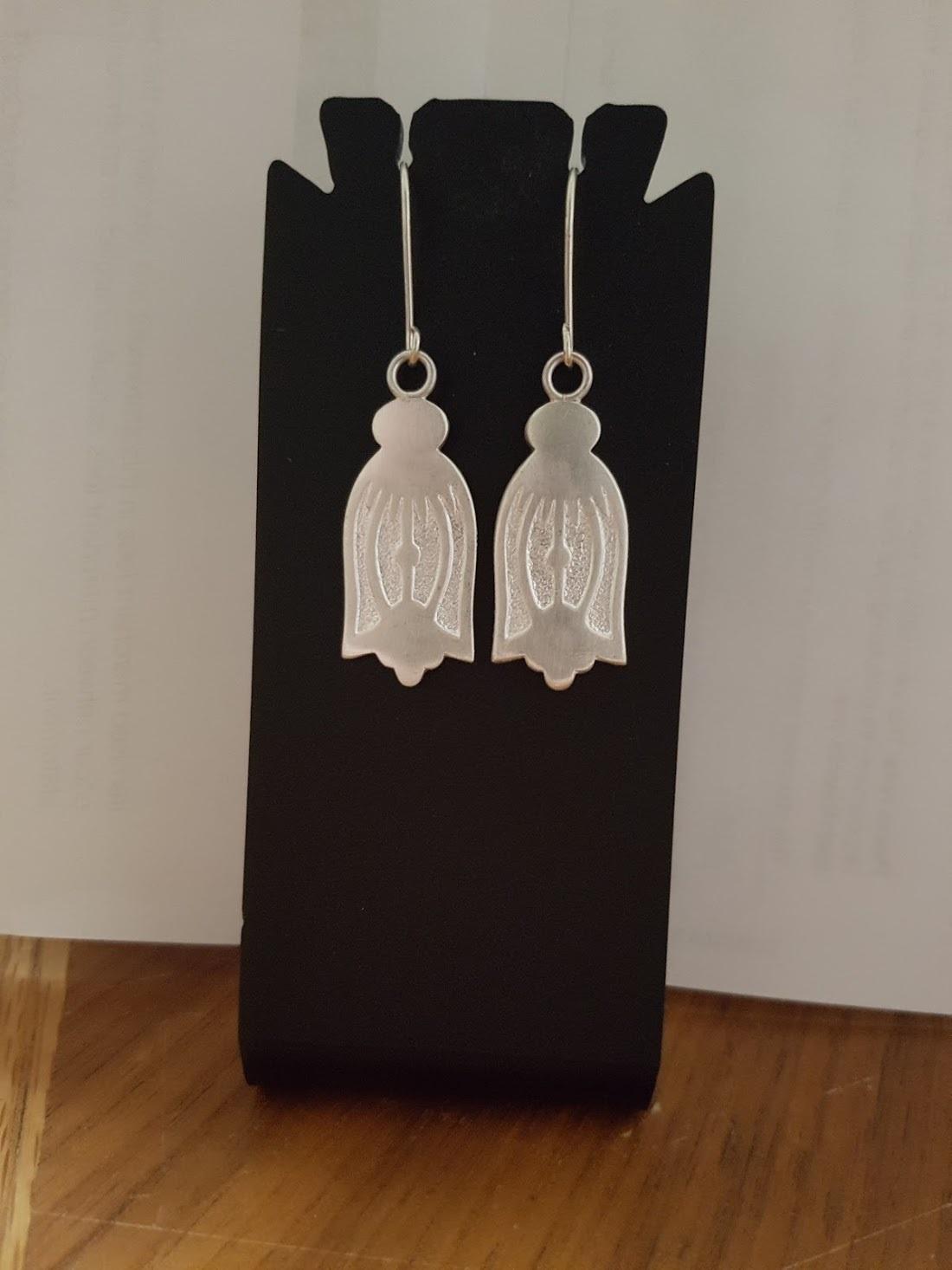 Vintage Apex Sterling Silver Spoon Earrings