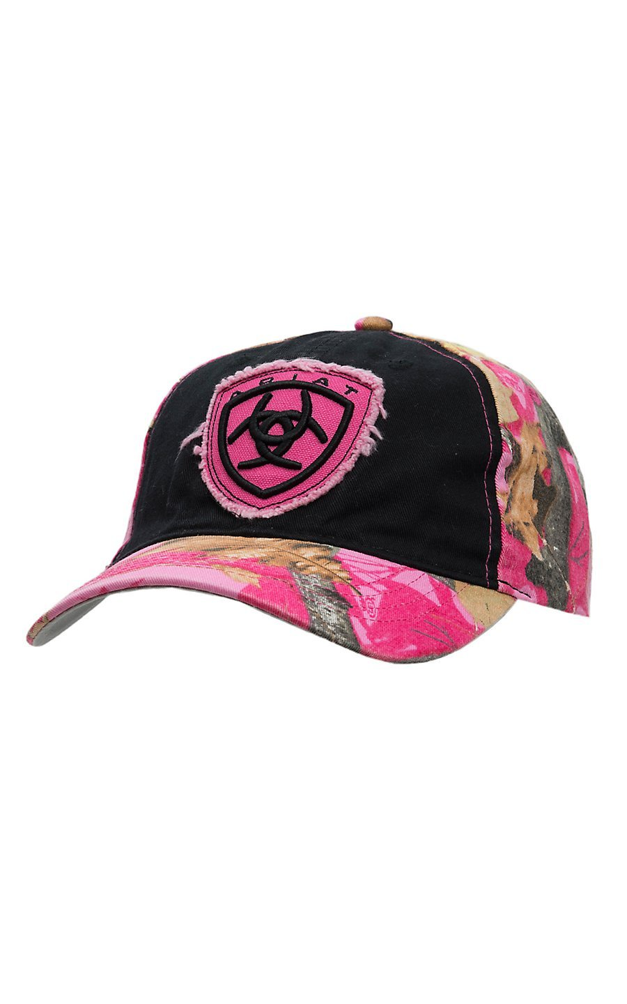 0f641a1e212e4 ... germany ariat womens black and pink camo embroidered logo cap b61f3  8255b