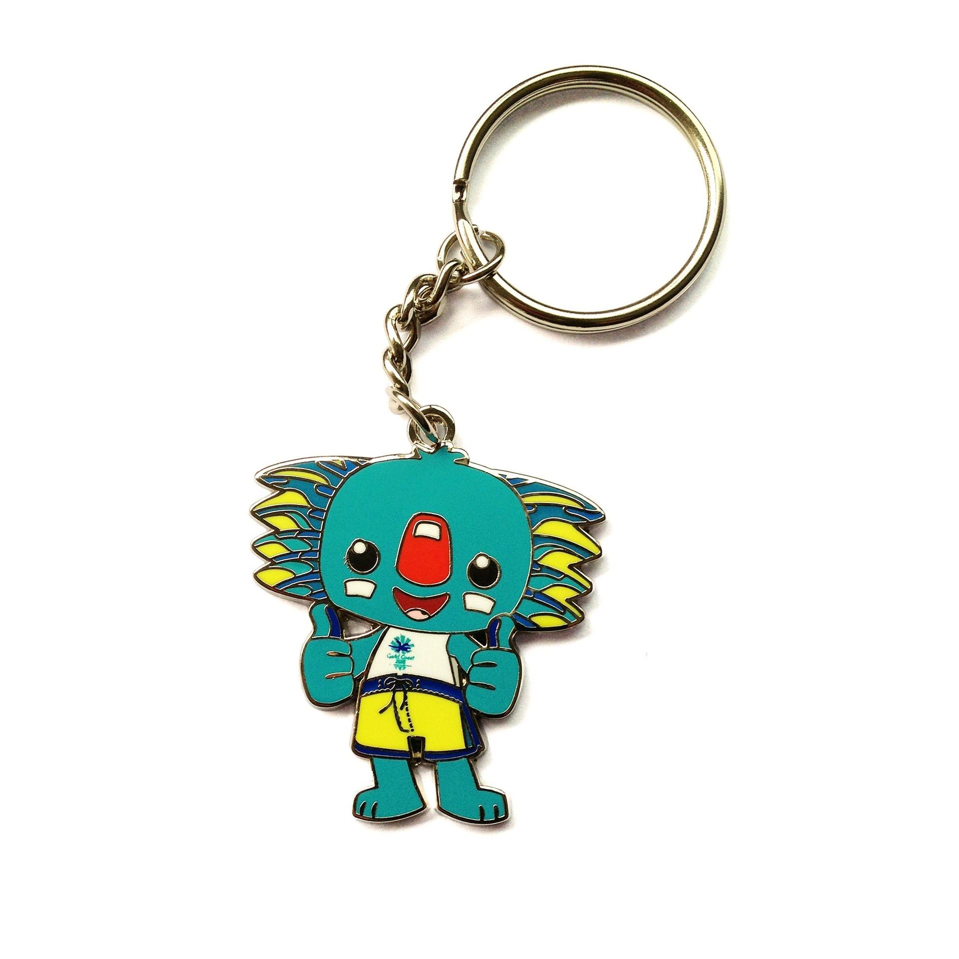 Borobi Mascot Metal and Enamel Keyring Image