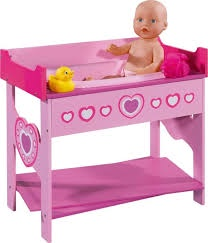 DOLLS WORLD BATHING AND CHANGING TABLE