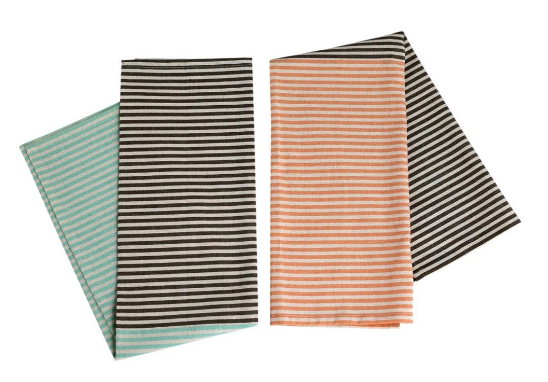 Raine & Humble Flamingo Fruit Striped Tea Towel (2)