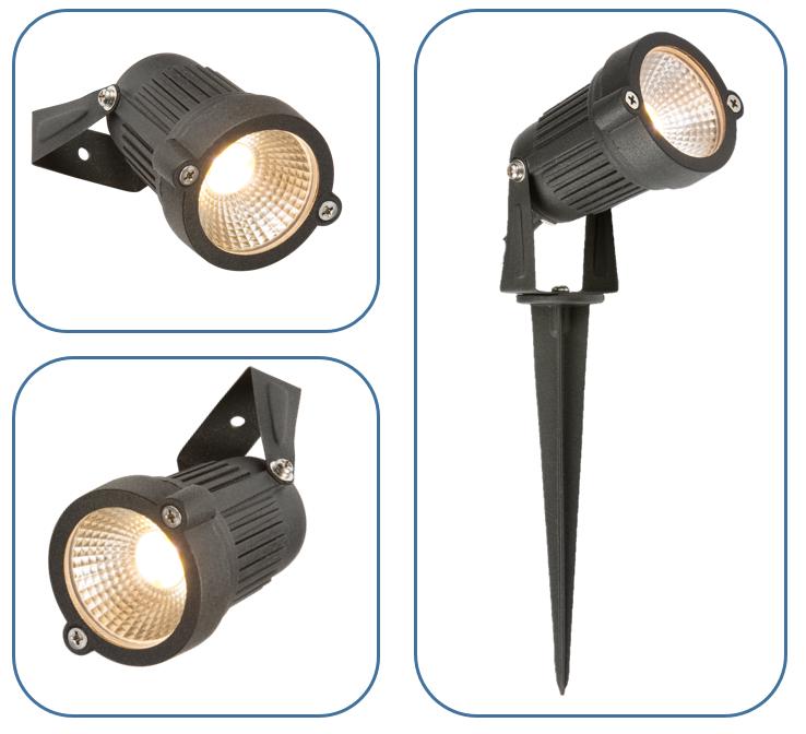 230V IP54 4W LED WALL/SPIKE SPOTLIGHT