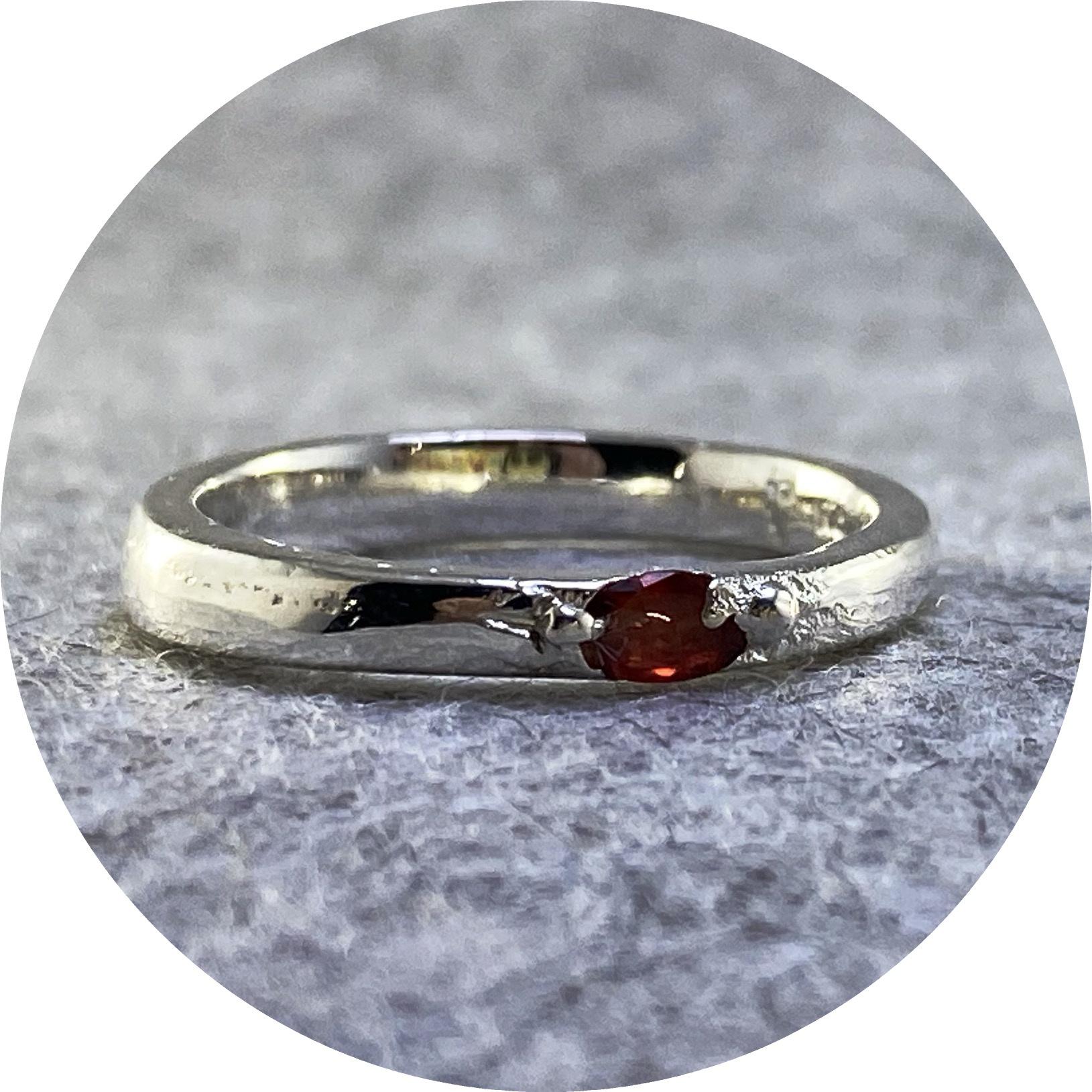 Kirra-Lea Caynes- Ruby ring cast in sterling silver. size N1/2