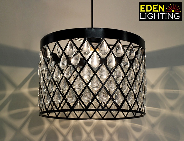 8662 350mm crystal lamp shade