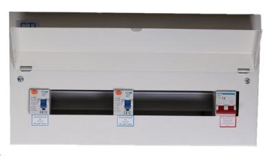 21 Way 100A Isolator 2 x 80A RCD Metal Clad Consumer Unit
