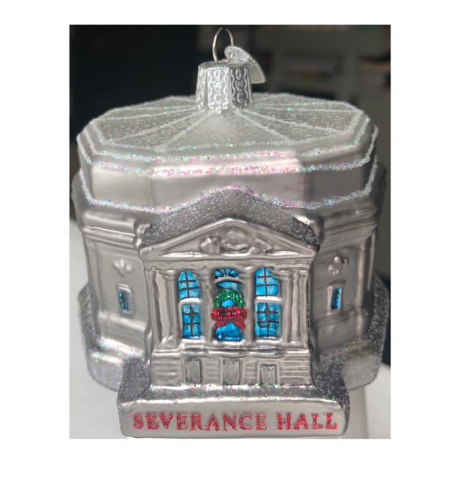Severance Hall Blown Glass Ornament