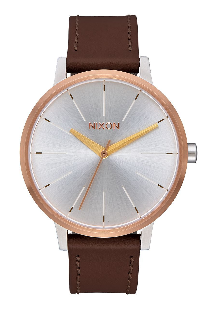 NIXON - KENSINGTON LEATHER IN SILVER/GOLD/ROSE GOLD A108 2632-00