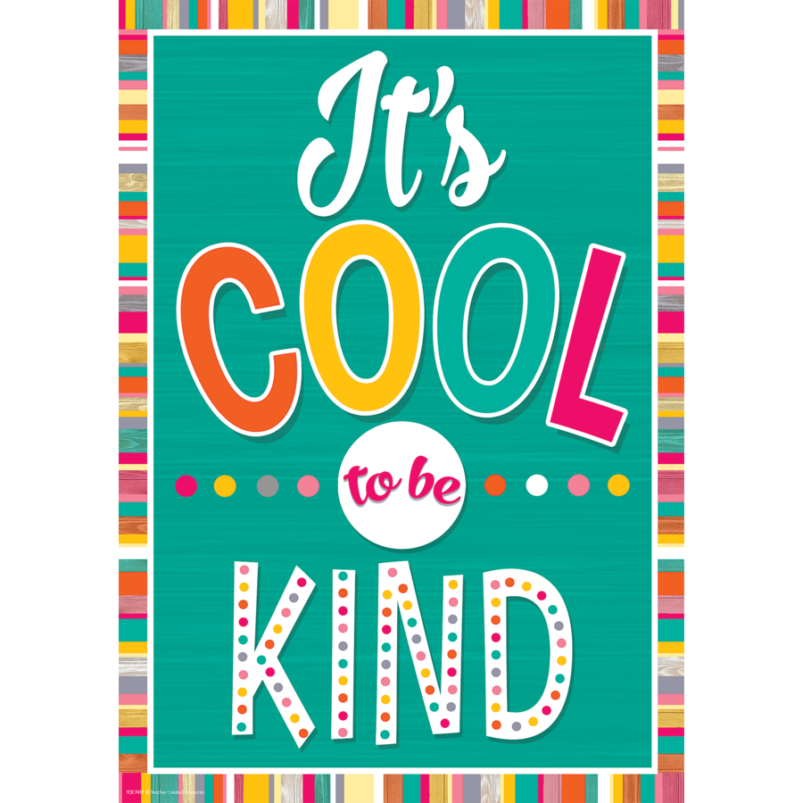 TCR 7417 IT'S COOL TO BE KIND POSITIVE POSTER
