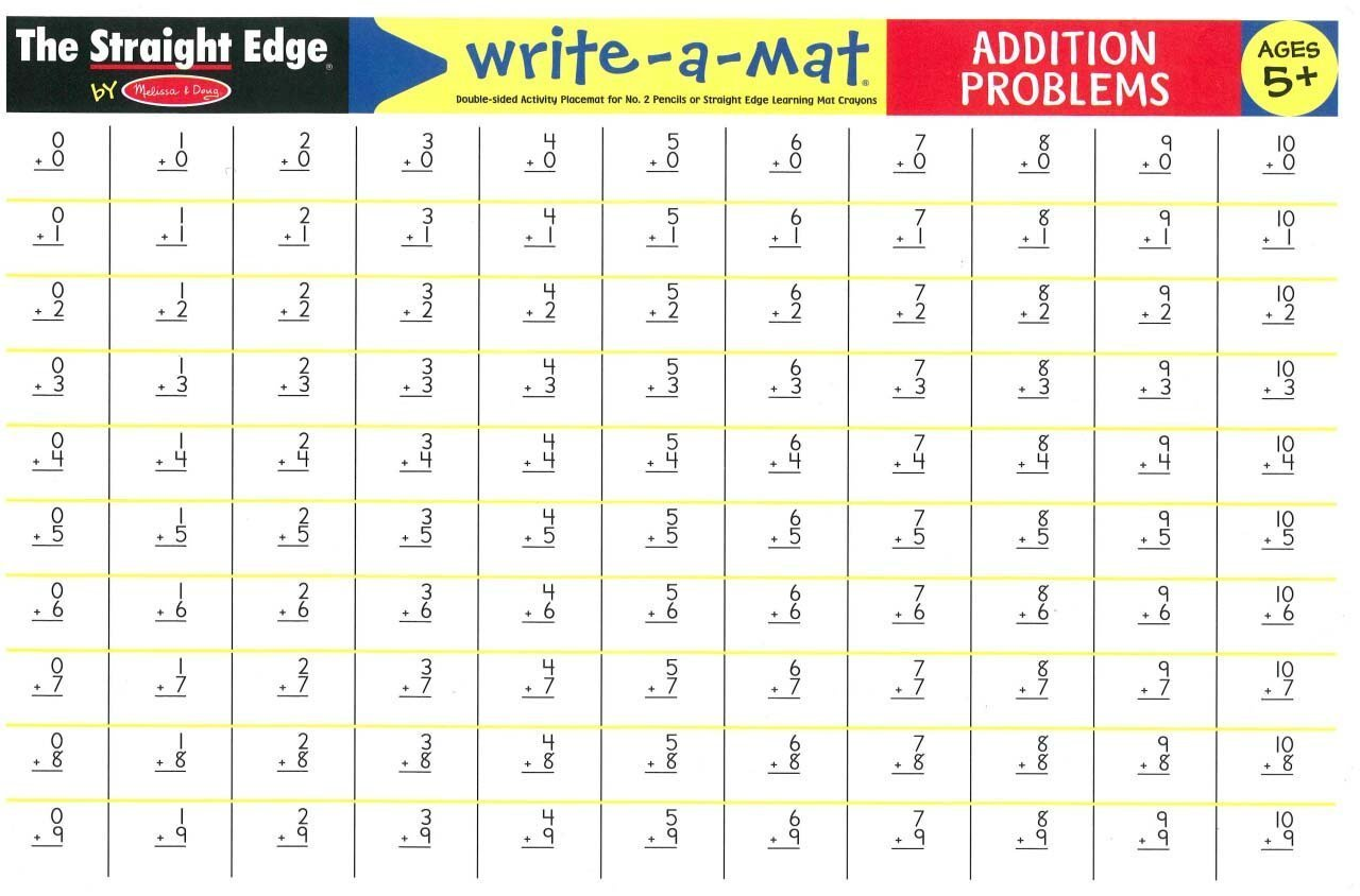 MD 5006 ADDITION PROBLEMS WRITE A MAT
