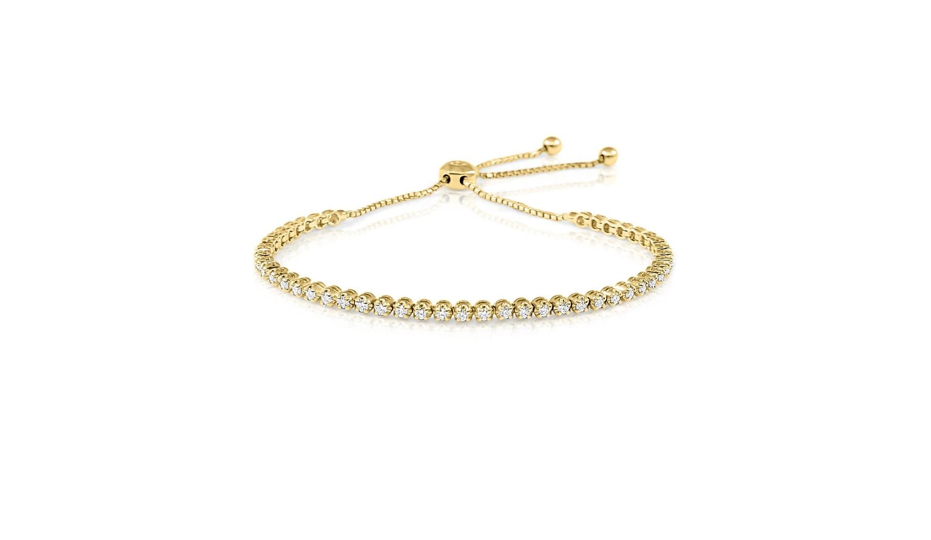 Yellow Gold Diamond Bolo Bracelet