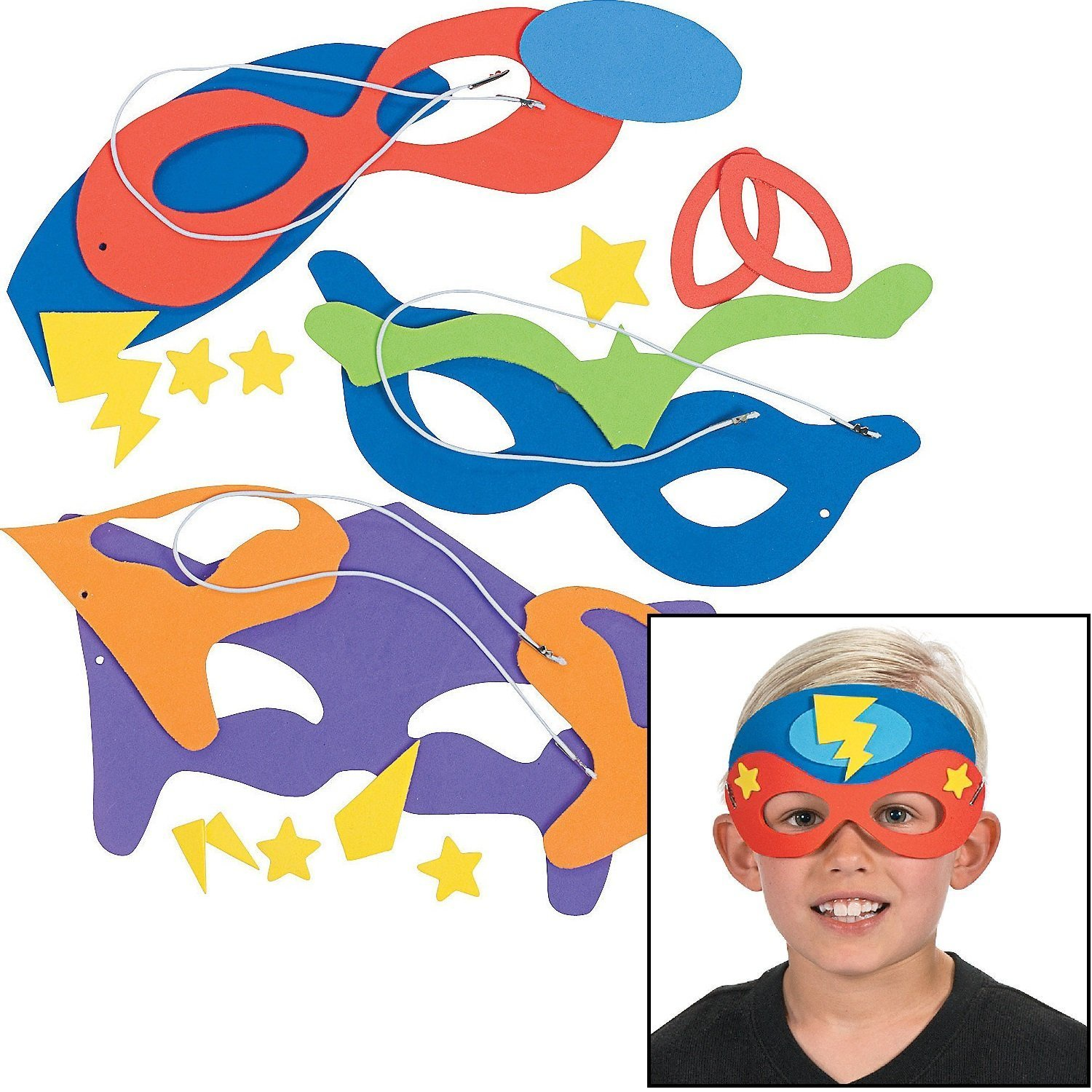 FOAM MASK SUPER HERO