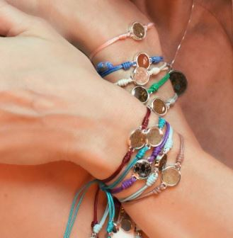 Touch The World Pull Cord Bracelet