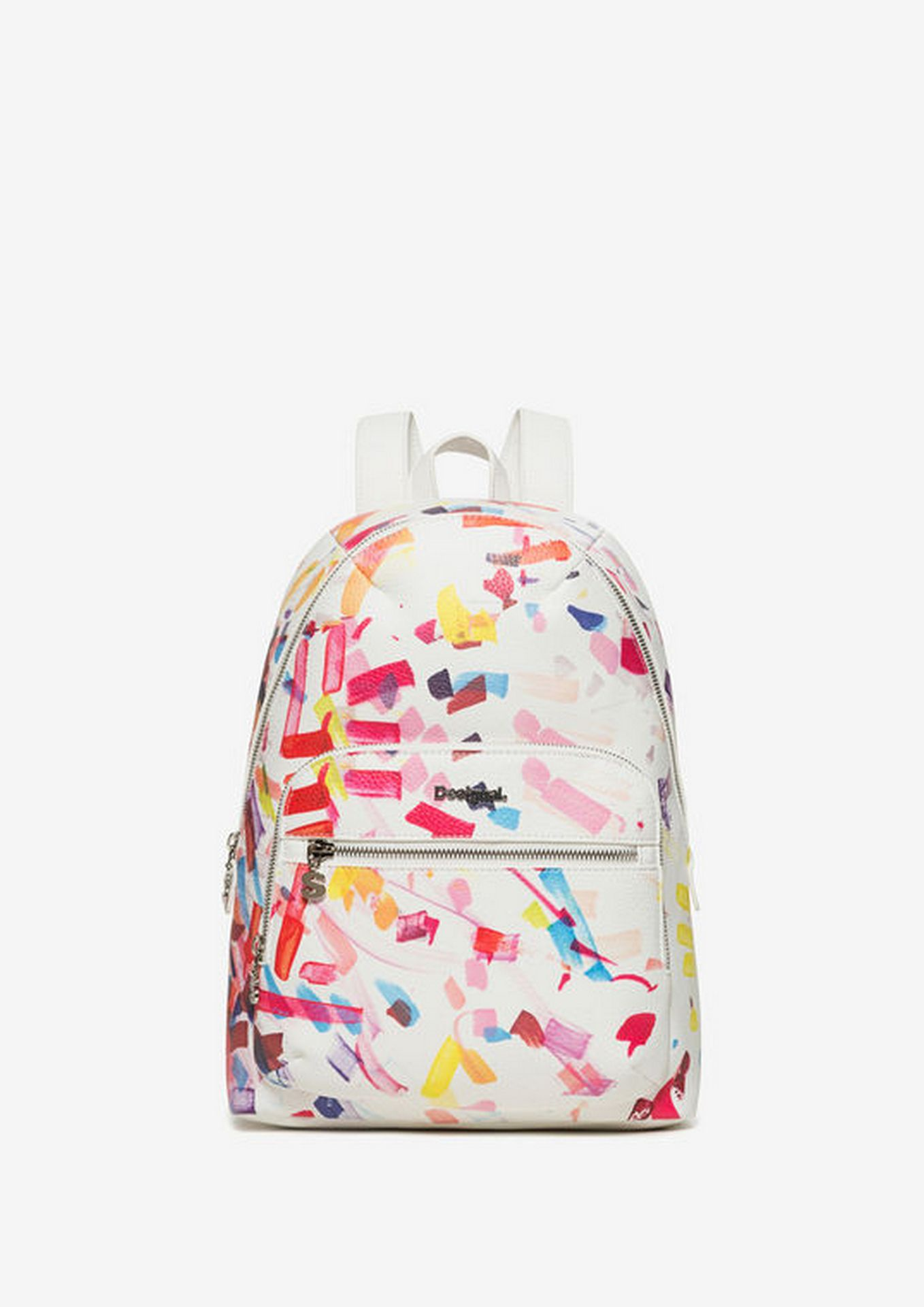 top design look out for 100% genuine DESIGUAL BACKPACK - CONFETTI LIMA pink