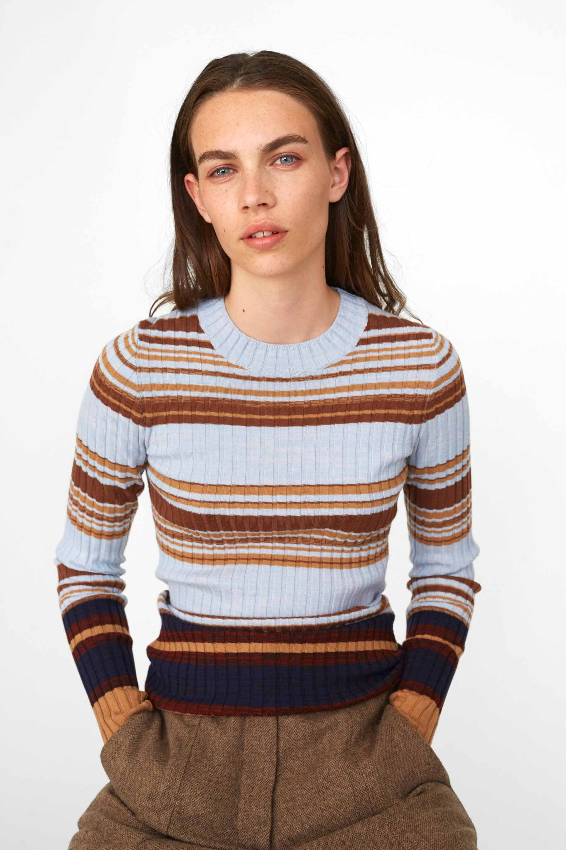 Cathrine Hammel - Weave Striped Sweater - 1013