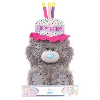 Admirable Tatty Teddy Birthday Cake Hat Me To You The Teddy Bear Shop Funny Birthday Cards Online Drosicarndamsfinfo