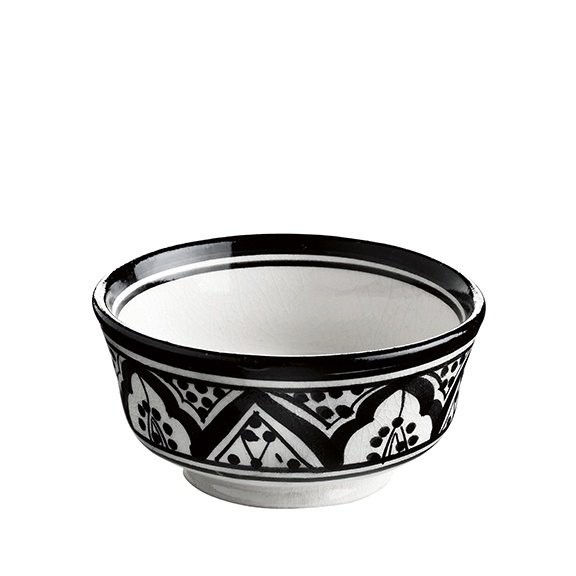 BOWL CERAMIC BLACK PRINT SMALL