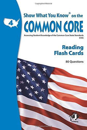 X NA 5405 SHOW WHAT YOU KNOW CC READING FLASH CARDS 4