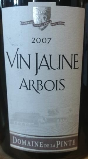 Domaine de la Pinte Vin Jeaune