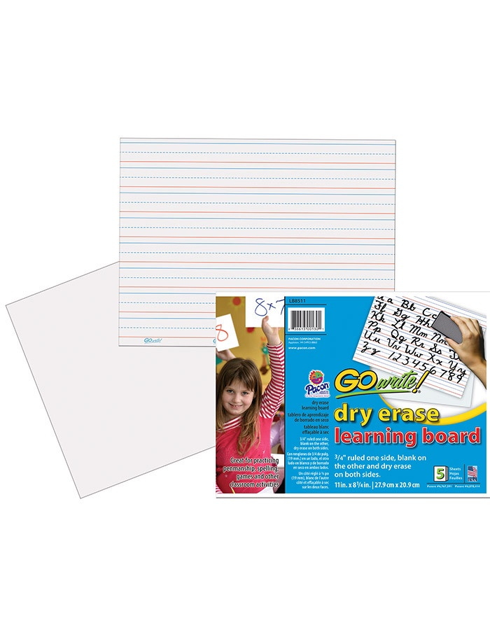 "X PA LB8511 GO WRITE DRY ERASE LEARNING BOARD 3/4"" RULED"