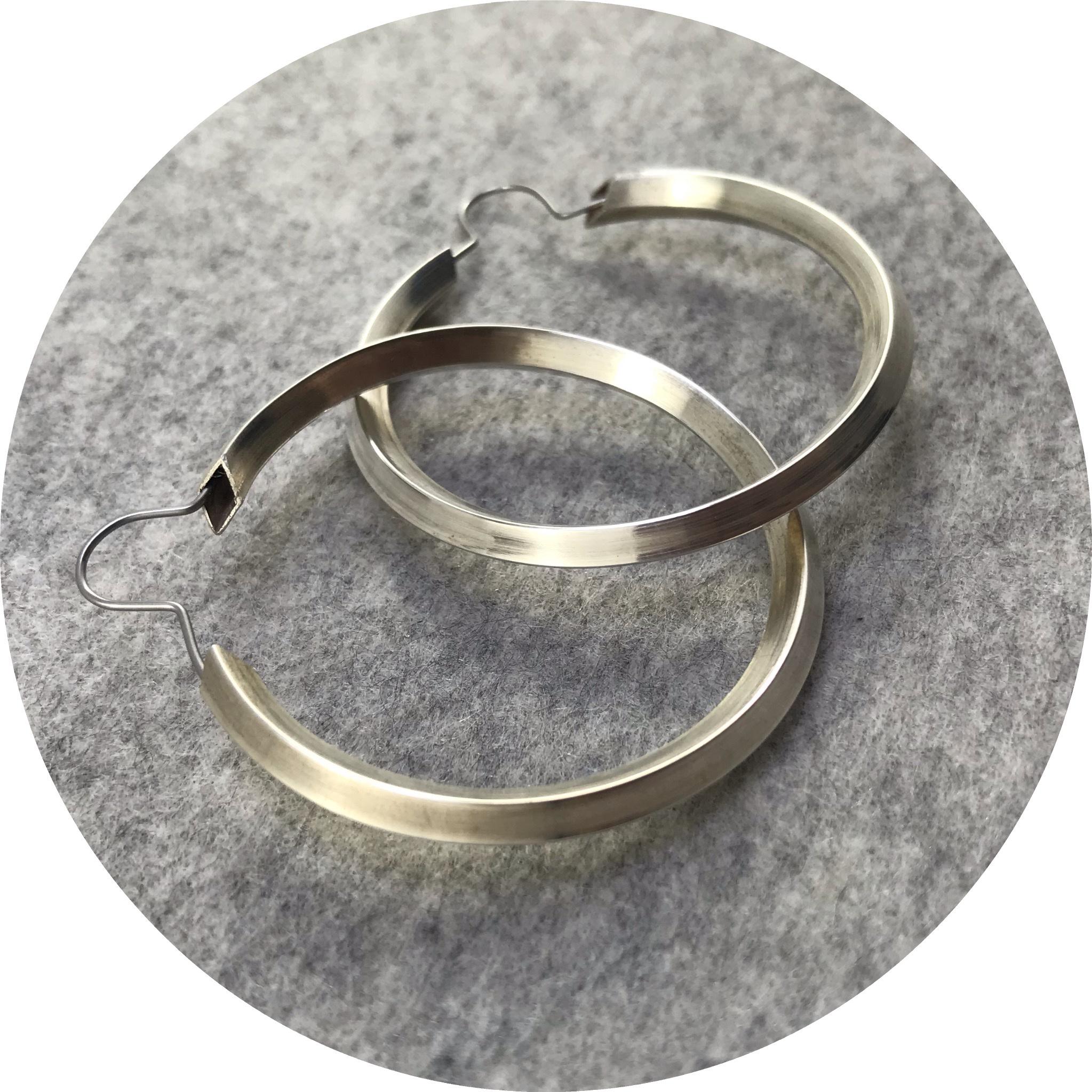 Kristina Neumann - 'Original Silver Hoops', 925 silver, stainless steel