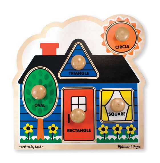 X MD 2053 FIRST SHAPES JUMBO KNOB PUZZLE
