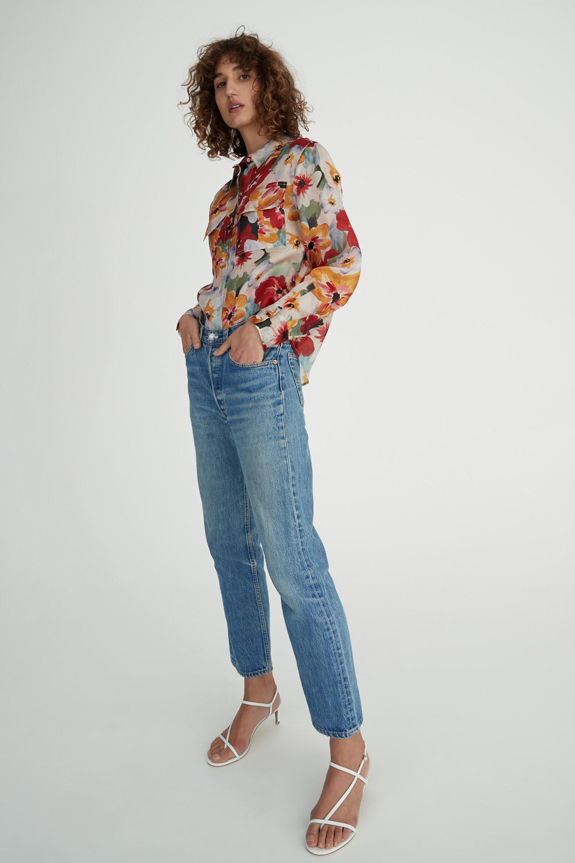 Hansen & Gretel Dempsey Shirt in Monet Floral Organza