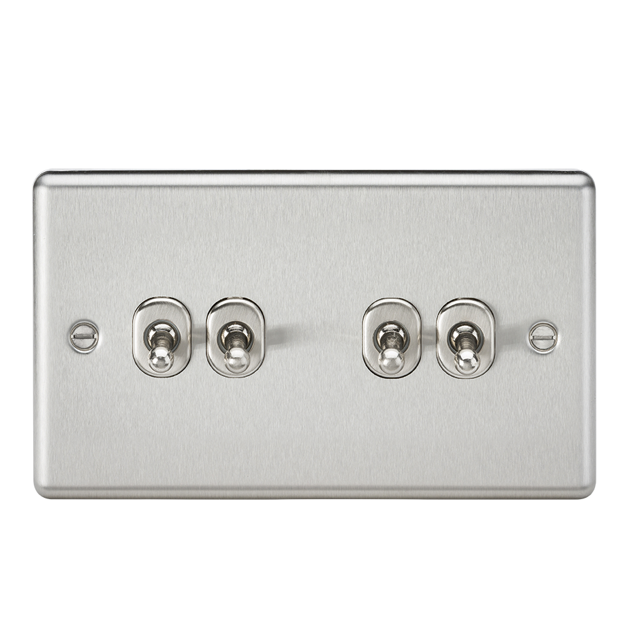 10A 4G TOGGLE SWITCH - ROUNDED EDGE BRUSHED CHROME