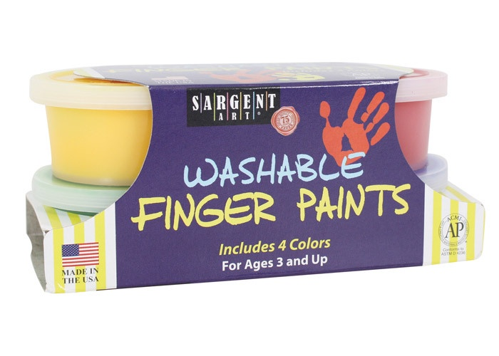 S/O SA 667023 4 COLOR WASHABLE FINGER PAINT WITH PAPER