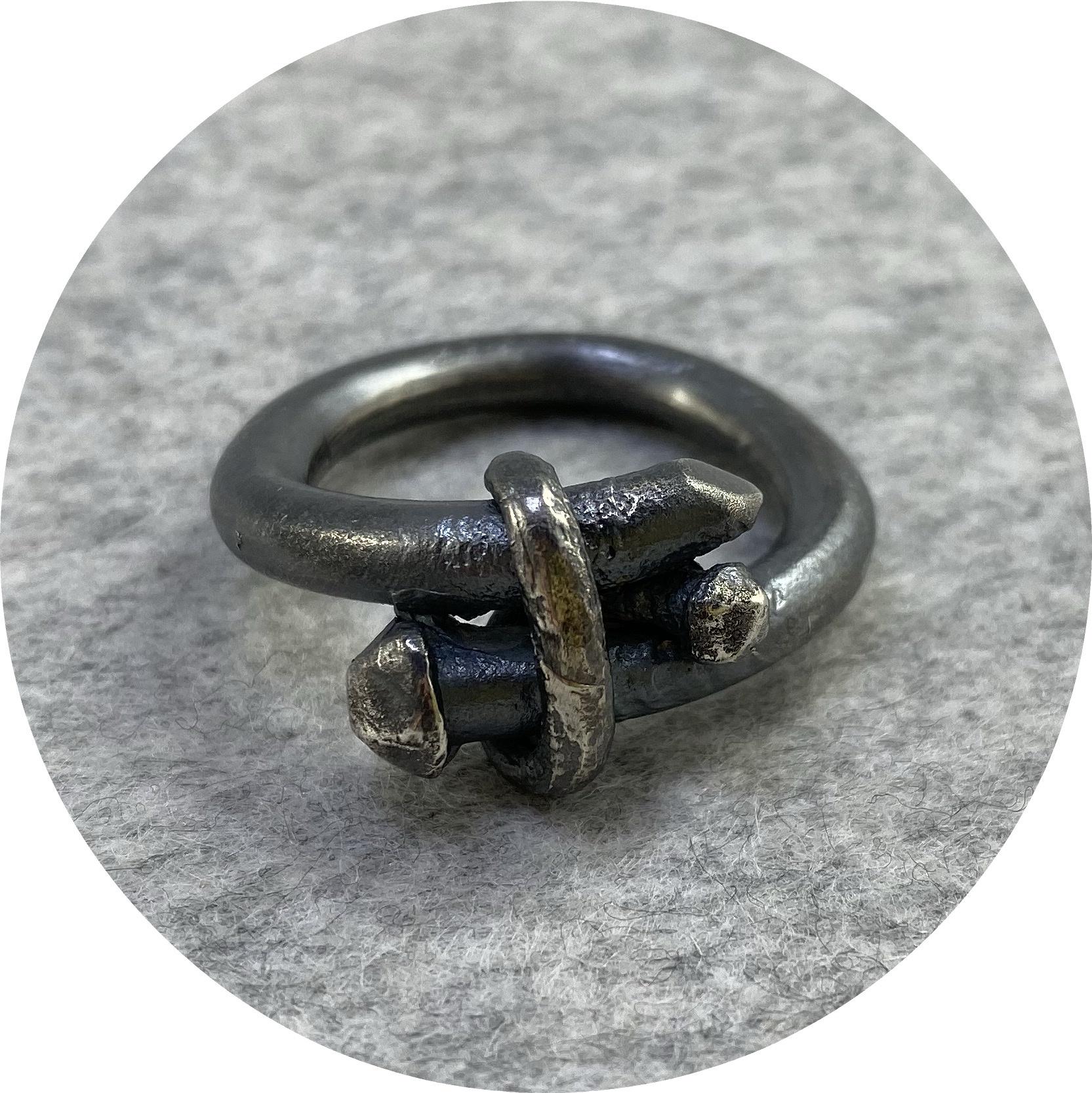 Maria Klingner - 'Nailed It Ring' 925 silver T