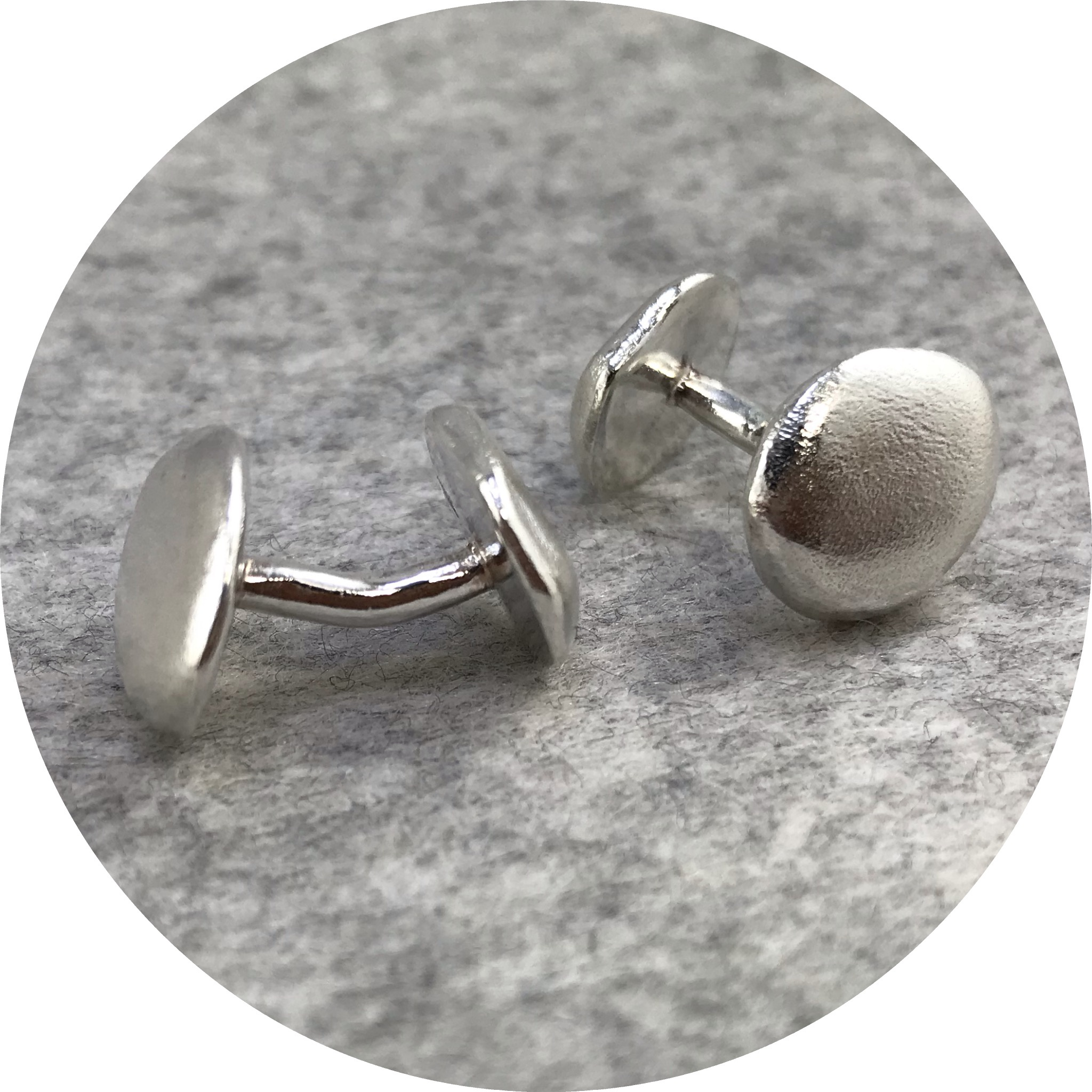 Leonie Simpson - Sterling Silver Pebble Cufflinks