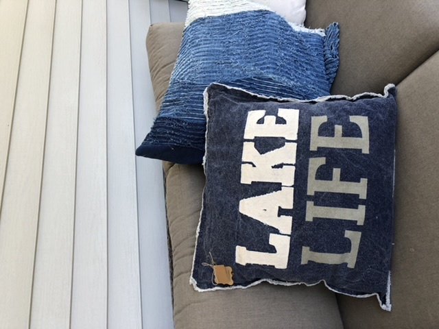MP-Navy Washed Canvas Lake Pillow
