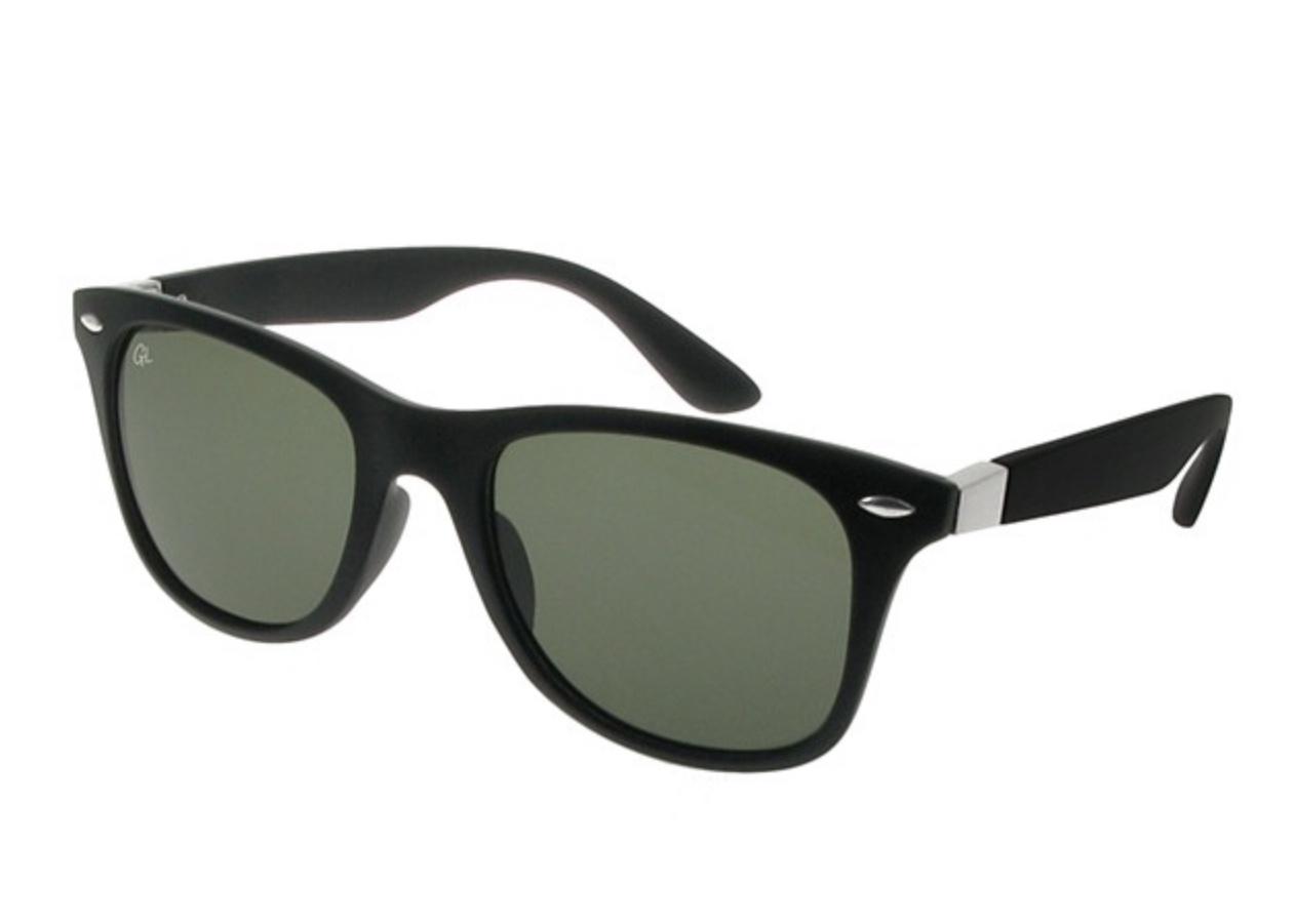 Matt black polarisaed sunglasses