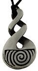 Pendant Pewter Triple Twist