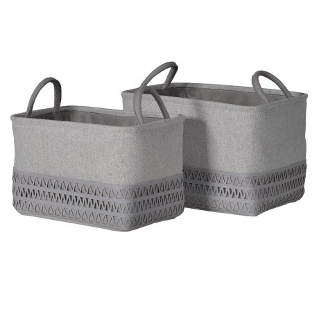 a9183118647 Coach House Set Of 2 Faux Leather Baskets - Lucy Lou s