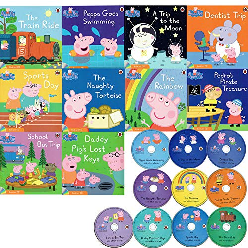 PEPPA PIG 10 BOOKS WITH CDS
